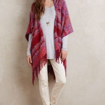 Hooded Plaid Wrap by Anthropologie