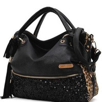 Women Hobo Satchel Fashion Tote Messenger Faux Leather Purse Shoulder Handbag HB = 1932254596
