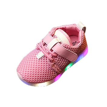 LED Baby Boys Girls Shoes kids Light Up Luminous Child Trainers Running Sneakers