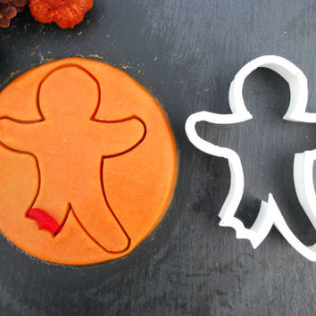 Gingerbread Man (Warranty Incl.) Halloween Cookie Cutter, 3D Printed, Mini Cookie Cutter and Standard Cookie Cutter Sizes