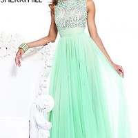 High Neck Evening Gown by Sherri Hill