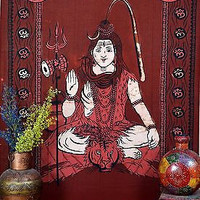 Shiva Tapestries Tapestry Wall Hanging Kirtan Hare Rama Indian Print SBS042