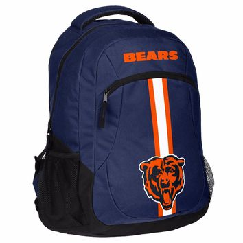Chicago Bears Logo Action BackPack School Bag New Back pack Gym Travel Book