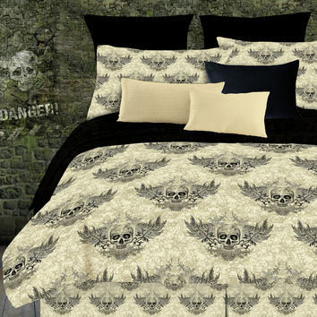Veratex Winged Skull 2 Piece Comforter Set