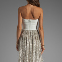 ERIN erin fetherston Antoinette Dress in White/Sliver Combo from REVOLVEclothing.com