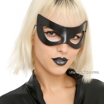 Licensed cool Sexy Black Cat Solid Black Adult Foam Eye Mask Costume Party Cosplay Hot Topic