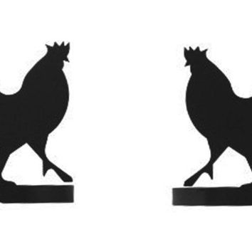 Wrought Iron Rooster Curtain Tie Back -Set