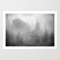 The misty forest.... Art Print by Guido Montañés