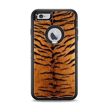 The Real Tiger Print Texture Apple iPhone 6 Plus Otterbox Defender Case Skin Set
