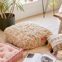 Amped Shag Floor Pillow | Urban Outfitters