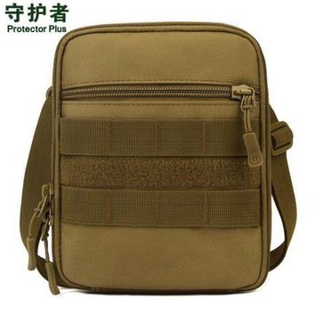 DCCK7N3 Protector Plus A007 Outdoor Sports Bag Camouflage Nylon Tactical Military Molle EDC Pouch Hiking Cycling Messenger Bag