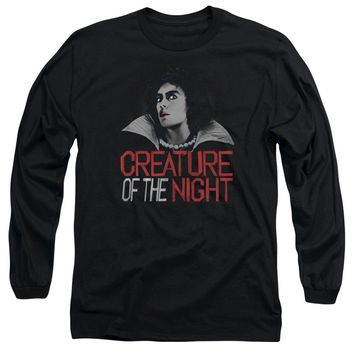 Rocky Horror Picture Show - Creature Of The Night Long Sleeve Adult 18/1 Officially Licensed Shirt