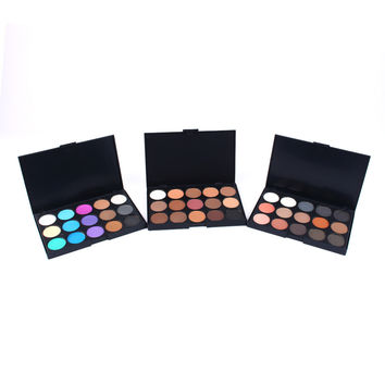 Cosmetic Matte Eyeshadow Cream Eye Shadow Makeup Palette Shimmer Set 15 Colors Oogschaduw Maquiagem Make Up W97