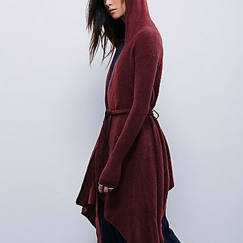 Free People Womens Sloane Hooded Wrap Cardi