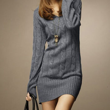 Vintage V-Neck Long Sleeve Sweater