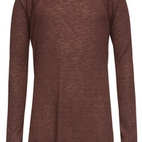 Full Tilt Essential Waffle Knit Girls Raglan Tee Burgundy  In Sizes