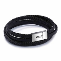 Shiny Stylish New Arrival Stainless Steel Men Hot Sale Jewelry Simple Design Accessory Bangle [10783256451]