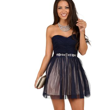 Kyla- Navy Formal Dress