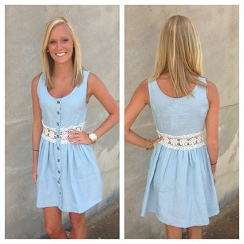 Blue Jean Princess Dress