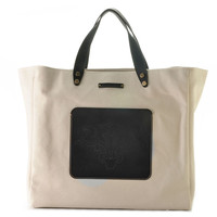 Beach Yacht Tote, Black, Large, Totes
