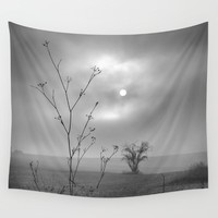 Sun Through The Fog. Early morning Wall Tapestry by Guido Montañés