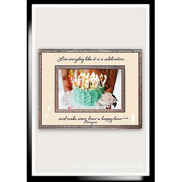 Live Everyday Like It Is A Celebration Copper & Glass Photo Frame