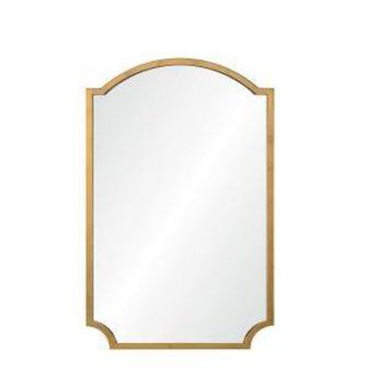 Large Distressed Gold Leaf Mirror by Mirror Image Home