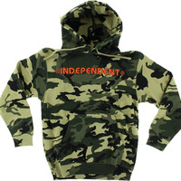 Independent Bar/Cross Hoodie/Sweater XLarge Camo/Orange