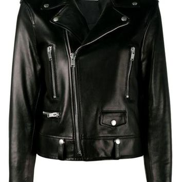 DCCKIN3 Saint Laurent Classic Leather Biker Jacket