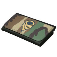 Camouflage Large Faux Leather Wallet
