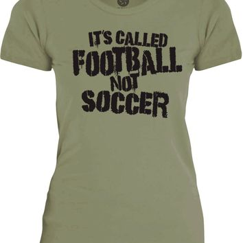 Big Texas Its Called Football, Not Soccer (Black) Womens Fine Jersey T-Shirt