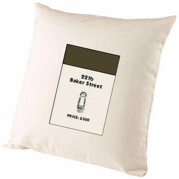 Monopoly Property Card 221b Baker Street Cushion Cover