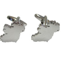 Ireland Map Shape Cufflinks