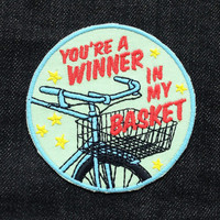 You're A Winner in my Basket Patch / Embroidered Patch / Badge / Bicycle / Bike / Race
