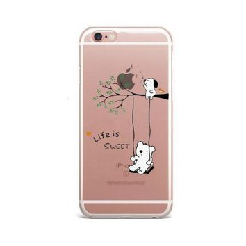 Life is Sweet Pug iPhone Case