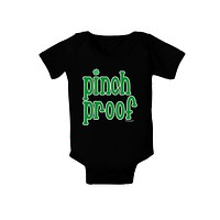 Pinch Proof - St. Patrick's Day Baby Bodysuit Dark by TooLoud