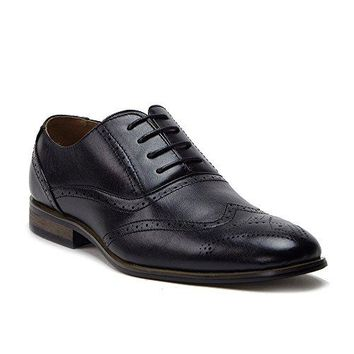New Men's 95203 Leather Lined Perforated Wing Tip Oxford Shoes