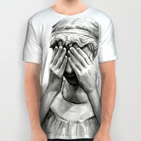 Weeping Angel All Over Print Shirt by Olechka