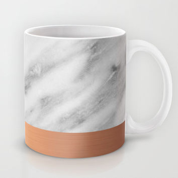 Carrara Italian Marble Holiday Rose Gold Edition Mug by cafelab