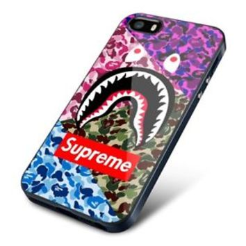 Best Hot Famous Trip Camo Bape Supreme Logo Fit Hard Case for iPhone 7 7+ Cover