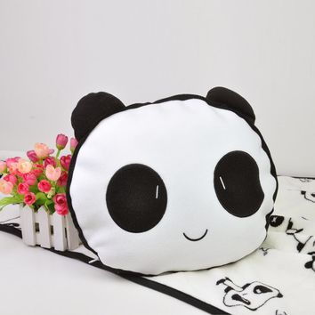 75x140cm Super Cute Panda Polyester Flannel Minky Newborn Baby Blanket with Cushion Blankets for Beds Manta Para Sofa Cobertor