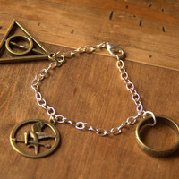 Hunger Games, Harry Potter, Lord of the Rings fandom-inspired bracelet