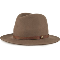 Rag & bone - Leather-trimmed wool-felt fedora