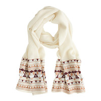 J.Crew Womens Embroidered Metallic Scarf