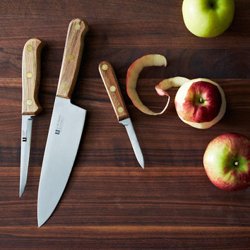 R. Murphy Reclaimed Pecan Carbon Steel Knives
