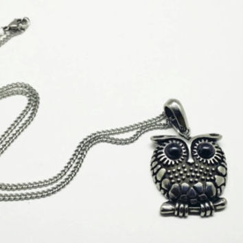Stainless Steel Owl Necklace