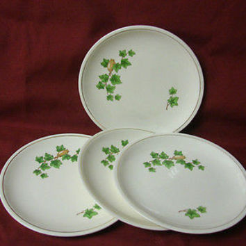 Paden City Pottery. China dinnerware Green Ivy set 4 bread plate