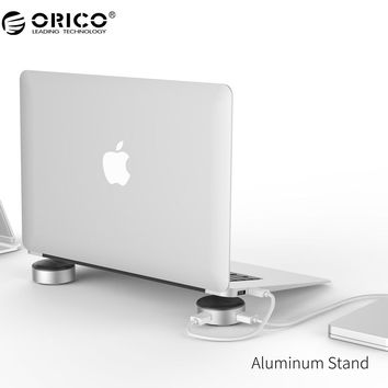 ORICO Aluminum Laptop Stand Portable with 3 Port USB 3.0 HUB for Notebook Universal Radiator