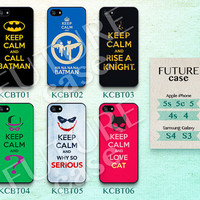 Keep Clam iPhone 4 Case Batman Joker Keep Clam iPhone Case iPhone 4s case iPhone 4g Case Hard or Soft Case-KCBT06