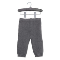 Elegant Baby Garter Stitch Knit Pant in Grey